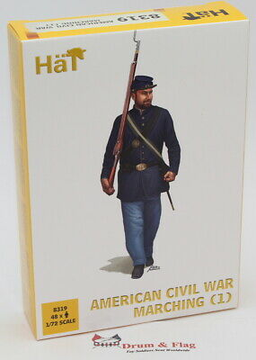 £10.95 • Buy HaT 8319 American Civil War Marching Set #1. 1/72 Scale. Union & Confederate
