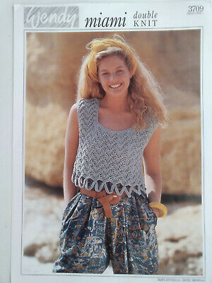 Ladies  Lacy  Cropped  Top  Knitting  Pattern Sizes  30/32  -  38/40   Inch Bust • 1.49£