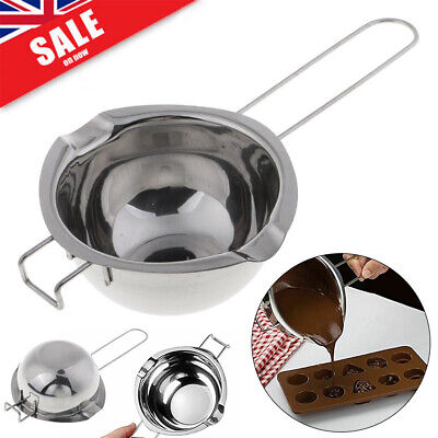 Stainless Steel Wax Melting Pot Double Boiler For DIY Wedding Scented Candle UK! • 6.99£