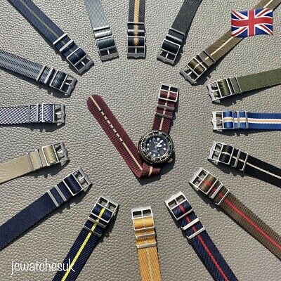 Premium Quality Seatbelt Single Pass Nato Strap (Tudor Style Buckle) 20 & 22mm • 1.75£
