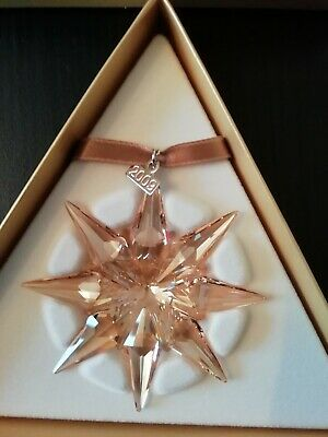 Swarovski SCS 2009 Gold Christmas Star Ornament 1026761 Mint In Box • 55£
