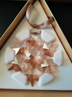 Swarovski 2010 SCS Golden Star Christmas Ornament 1054560 Mint In Box • 55£