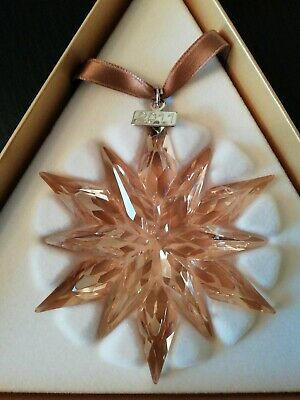 Swarovski 2011 SCS Golden Star Christmas Ornament 1092040 Mint In Box • 55£