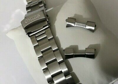 Seiko Solid Stainless Steel Watch Strap/band With Curved End Lugs 22mm  Bargain! • 20£
