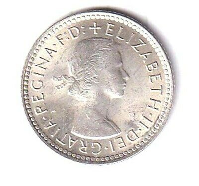 Australia Silver Sixpence Dated 1962. **absolute Gem Brilliant Uncirculated** • 0.10£