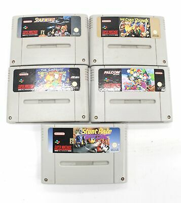 Collection Of 5 SUPER NINTENDO ENTERTAINMENT SYSTEM Games Inc STARWING - SA4 • 15£
