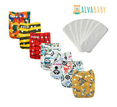 AU8.95 • Buy Alva Baby Modern Cloth Nappy With Microfiber Insert- 60 + Designs In Stock AU
