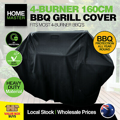 AU14.95 • Buy Home Master® BBQ Cover 4 Burner Heavy Duty Weather Proof Tear Resistant 160cm