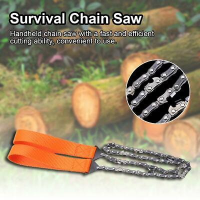 Cutting Machine Portable Survival Chain Wire Saw Chainsaw Emergency Camping Tool • 7.98£