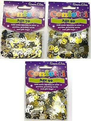 £1.49 • Buy Sparkly Table Confetti Gold Black Silver Birthday Party Sprinkle Decorations