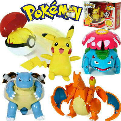 Pokeball Ball Transformation Toy Kids Action Figure Suit Deformation Doll Gift • 14.99£