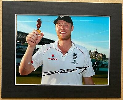 Andrew Flintoff - Ashes - England Cricket - Signed Photo - Mounted • 19.99£