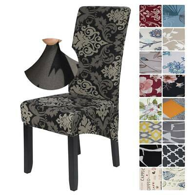 UK Elastic Stretch Dining Chair Covers Removable Protective Slipcover High Back • 5.99£