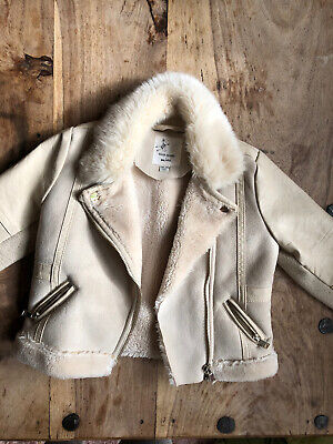 River Island Kids Leather Jacket With Fur 18-24 Months  • 2.50£