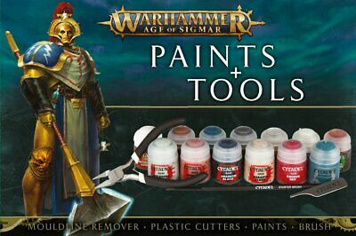 Warhammer : Age Of Sigmar - Paints & Tools Set • 20£