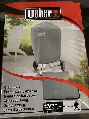 $ CDN27.85 • Buy Weber Charcoal Kettle Grill Cover Storage Outdoor All Weather Fabric 22  - Gray