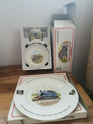 Wedgwood Thomas The Tank Engine 2 Pieces Set & Cake Plate In Boxes  • 89.99£