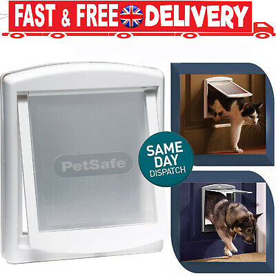 Small White PetSafe Staywell Original 2 Way Pet Door Cat Or Dog Locking Flap • 8.88£