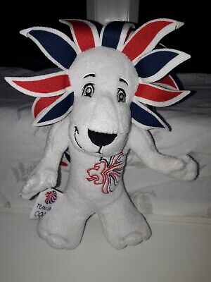 London 2012 Lion Olympic Games Team GB Mascot Soft Toy Plush Collectible • 1.99£