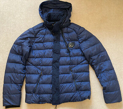 Men's C.P Company D D Shell Down Concealed Hooded Jacket - Size Large (50) • 82£