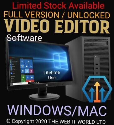 VIDEO EDITING SOFTWARE -WINDOWS 10 8 7 & MAC (CD/DVD) Worldwide Delivery • 7.99£
