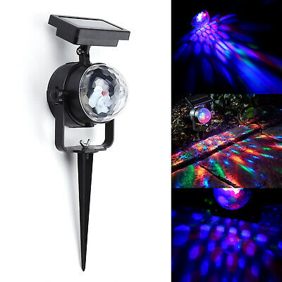 Solar Spot Lights LED Colour Changing Projection Stake Garden Light Outdoor UK • 5.99£