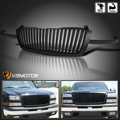$139.38 • Buy For 2003-2005 Chevy Silverado Avalanche Matte Black Vertical Front Hood Grille