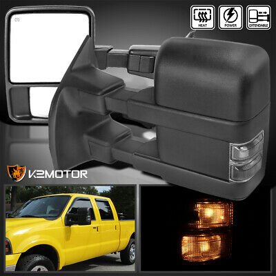 $139.38 • Buy For 1999-2016 Ford F250 F350 Super Duty Power Heated Tow Mirrors W/Smoke Signal