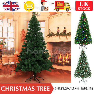 Christmas Tree Xmas 3FT 4FT 5FT 6FT 7FT 8FT With Metal Stand Home Decor Holiday • 19.99£