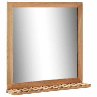 Bathroom Mirror 60x12x62 Cm  Solid Walnut Wood M5N1 • 34.14£
