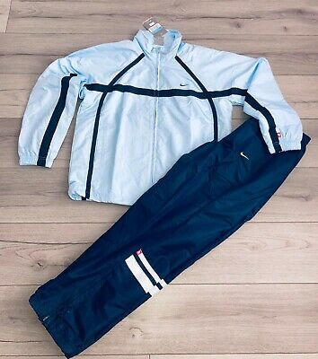 Nike Retro Tracksuit-Shell-suit- Size Medium- Baby Blue, Classic Look • 34.99£