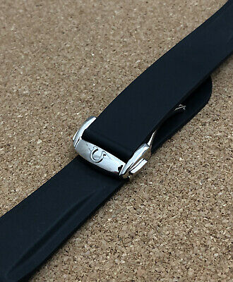 Omega Seamaster Planet Ocean Speed 20mm Rubber Deployment Watch Strap Mens Band • 42.49£