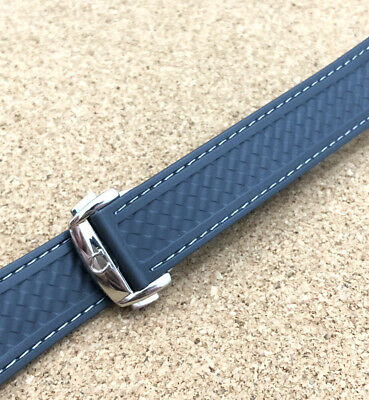 Omega Seamaster Aqua Terra 20mm Rubber Deployment Watch Strap Band Grey Mens • 43.99£