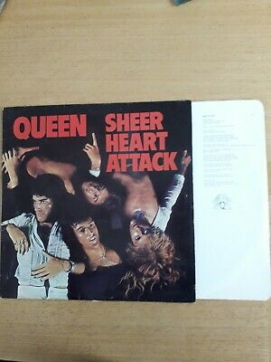 Queen Sheer Heart Attack Vinyl 1974 Origional With Lyrics Sleeve Vgc Slight... • 3.20£