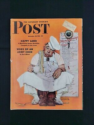 $ CDN67.48 • Buy Saturday Evening Post Magazine November 28 1942 Norman Rockwell Cover COMPLETE!
