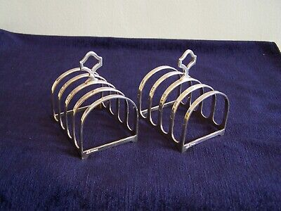 Antique Pair Of Toast Racks EPNS A1 / Silver Plated By ADIE Bros Ltd • 19.99£
