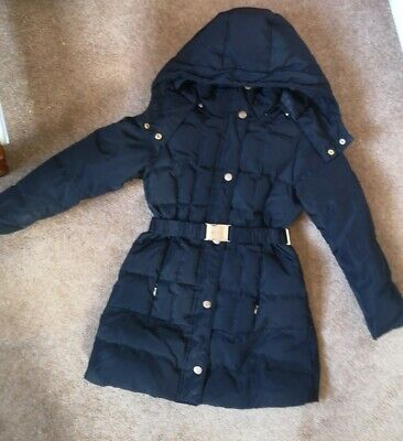 ZARA Girls Black Down Quilted Jacket Coat With Detachable Hood Size 5-6yrs 118cm • 27.89£