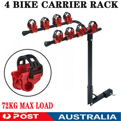 AU72.89 • Buy 4 Bicycles Bike Rack Carrier For Car Rear Towbar 2 Inch Hitch Mount RED