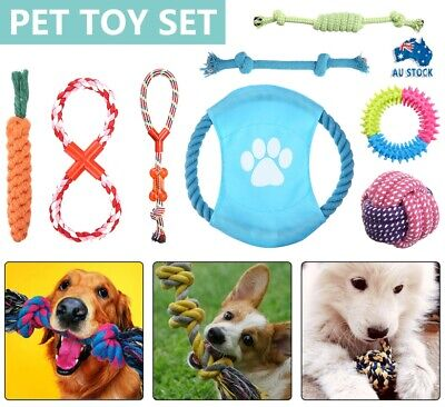 AU12.99 • Buy 10PC Dog Rope Toys Nolsen Pet Puppy Chew Toy Gift Set Durable Cotton Clean Teeth