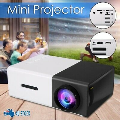 AU64.85 • Buy Portable Mini Projector YG300 HD LED 1080P AV USB HDMI Home Theater Cinema AUS