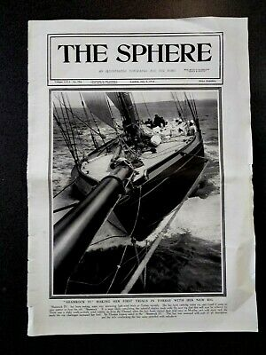 AU7.99 • Buy Shamrock 1v Yacht Sir Thomas Lipton 1914 Torbay The Sphere Newspape Clipping
