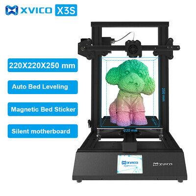 3D Printer 220x220x250mm Auto Bed Leveling Resume Printing USB Online Filament • 152.15£