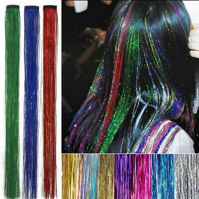 Rainbow Clip In Hair Tinsel Sparkle Holographic Glitter Hair Extension For Party • 0.99£