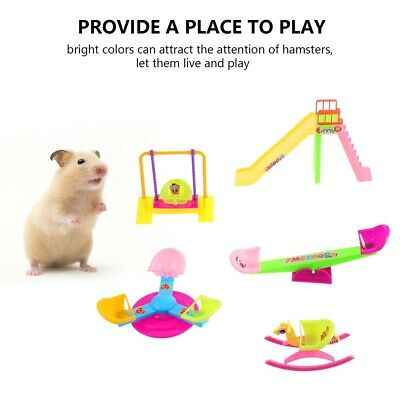 5pcs/ Set Hamster Funny Playing Toy Ladder Swing Rocking Chair Set Pet Supplies • 8.49£