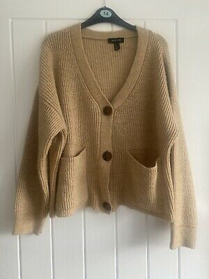 New Look Large Beige Chunky Knit Cardigan  • 3£