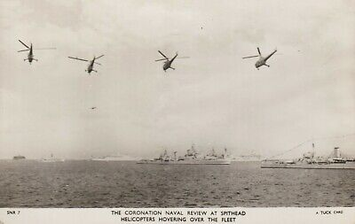 £2.50 • Buy Coronation Naval Review At Spithead, Helicopters Hovering Over The Fleet