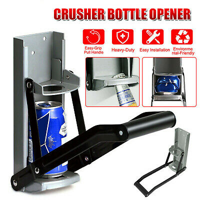 16oz Heavy Duty Beer Tin Can Crusher Wall Mounted Recycling Tool & Bottle Opener • 7.69£
