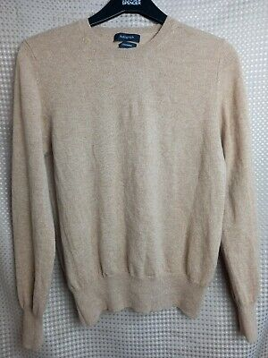Marks And Spencer Autograph  Womens Tan Brown Pure Cashmere  Jumper Size 12 • 19.95£