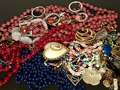 $ CDN9.99 • Buy Junk Drawer Estate Jewelry Lot Vintage To Modern Mixed Crafters Lot Over 1lb