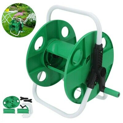 Portable Wall Mounted Water Hose Reel Free Standing Garden Pipe Holder Anti-Rust • 13.98£